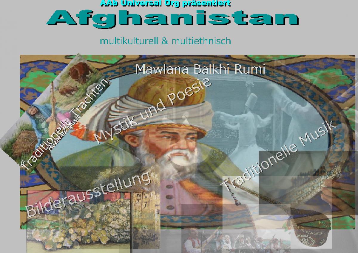 Bunte Collage von verschiedenen Bildern aus Afghanistan
